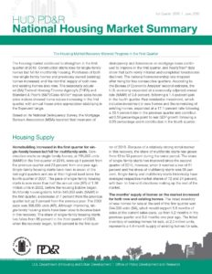 Pages from National Housing Market Summary