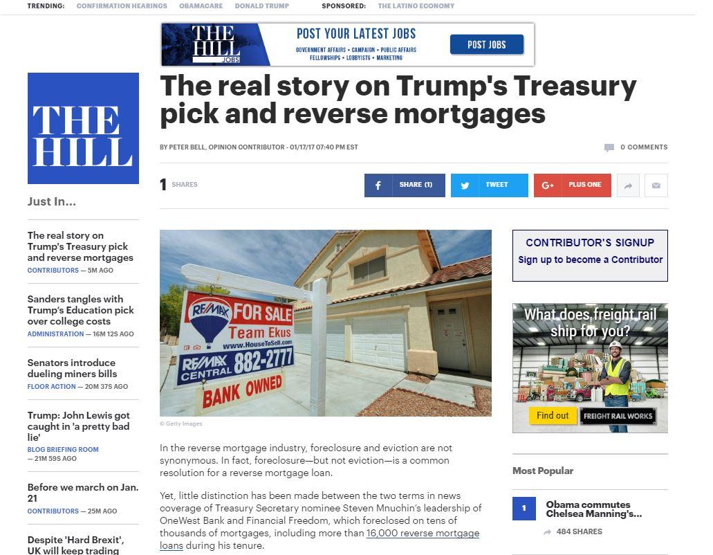 NRMLA Op-Ed Explains Reverse Mortgage Foreclosure - NRMLA