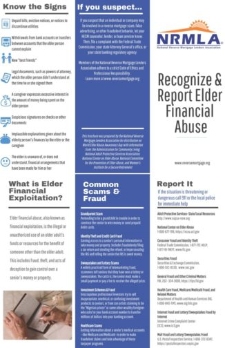 Recognize & Report Elder Financial Abuse