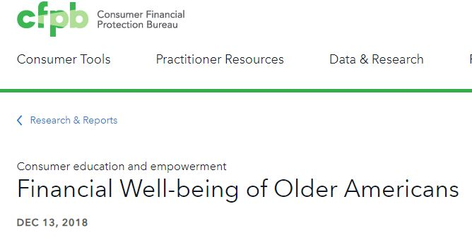 BCFP Publishes Report On Financial Well-Being of Older Adults