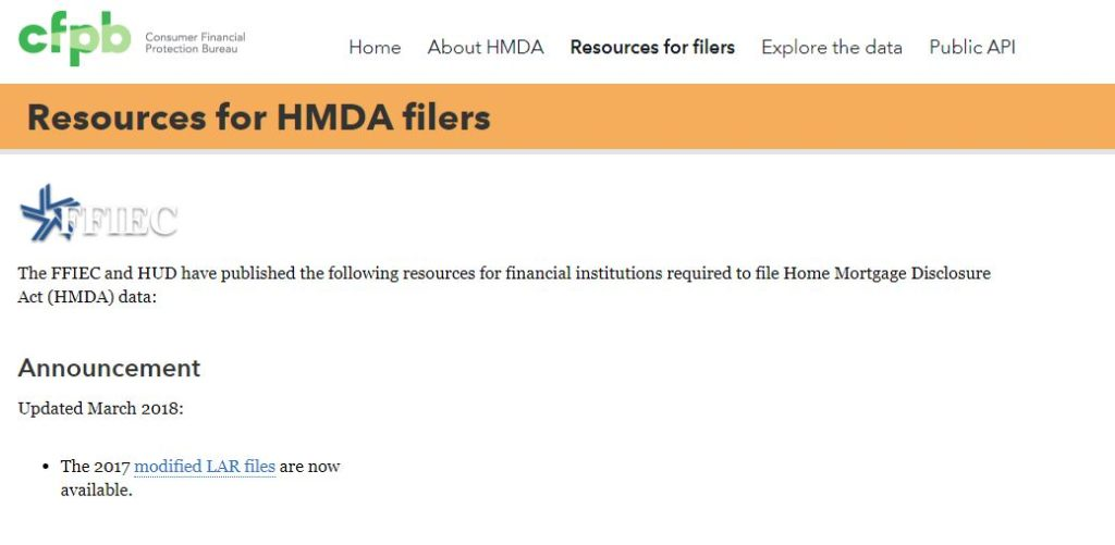 Important Message for HMDA Reporters