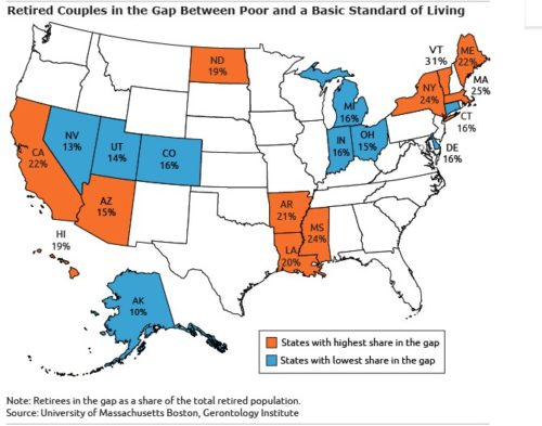 Retiree Living Standards, Ranked by State