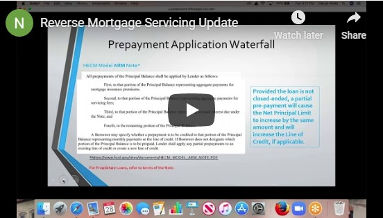 Servicing Corner: Prepayment Application Waterfall